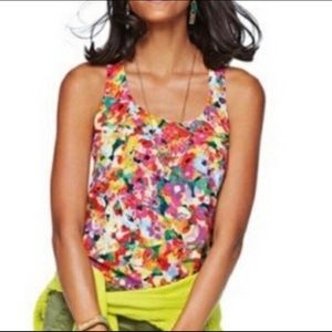 Cute Cabi Luisa Floral Tank Top, viscose
